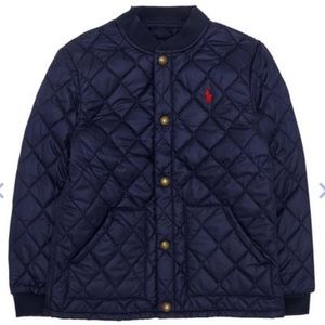 Like New Auth Polo Ralph Lauren quilted coat M boy
